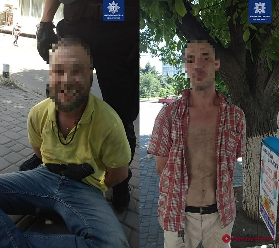 В Одессе патрульные задержали вооруженных грабителей