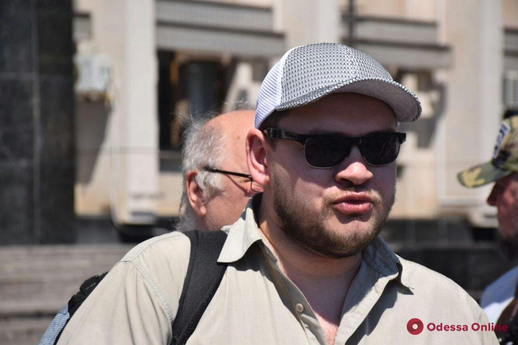 Под стенами облгосадминистрации митинговали журналисты