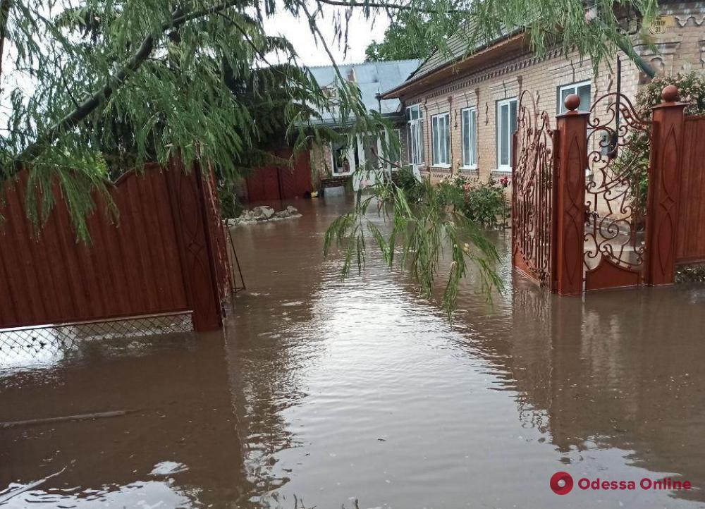В Одесской области спасатели откачивают воду из подтопленных домов