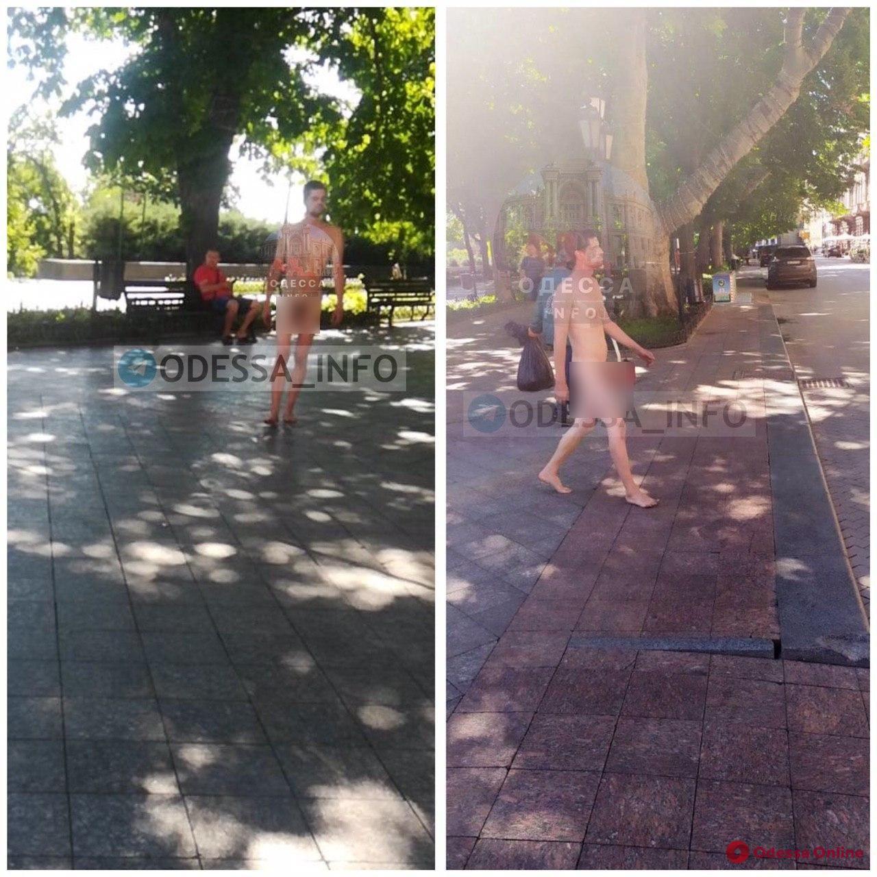 По Приморскому бульвару прогуливался голый мужчина (фотофакт)