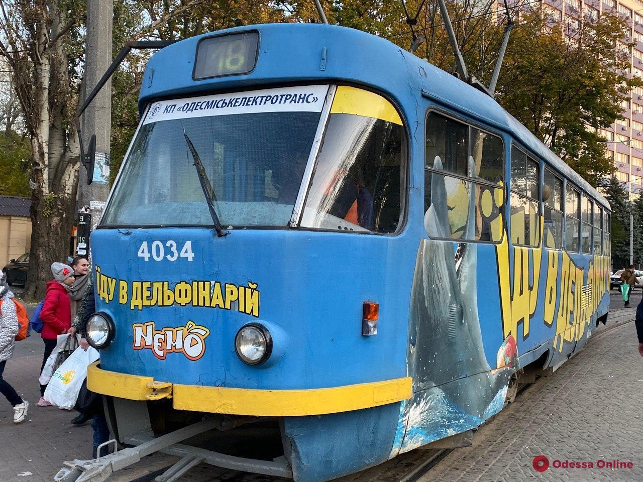 Из-за упавшей ветки на Фонтане не ходят трамваи