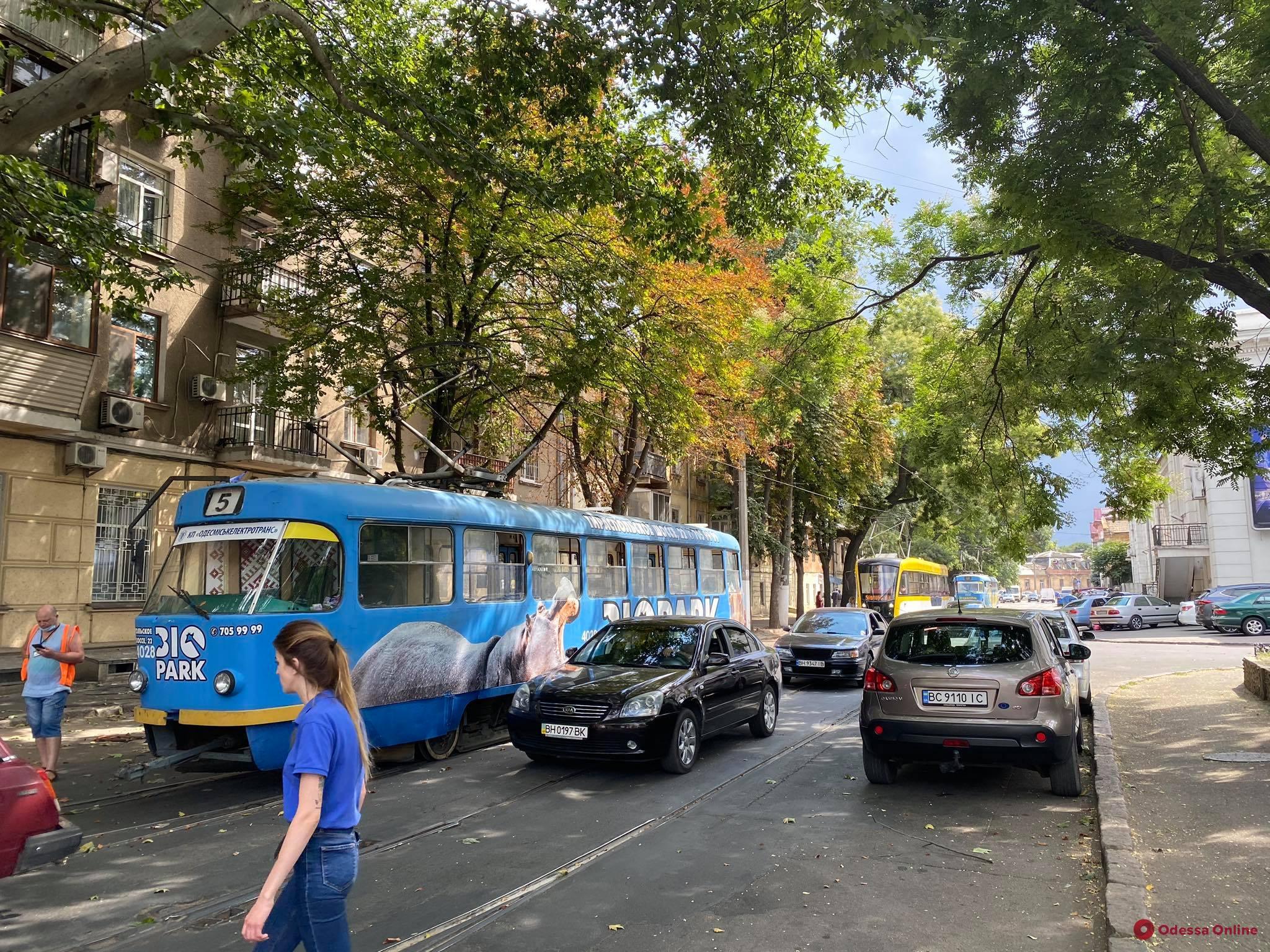 На Пантелеймоновской и Старопортофранковской не ходят трамваи