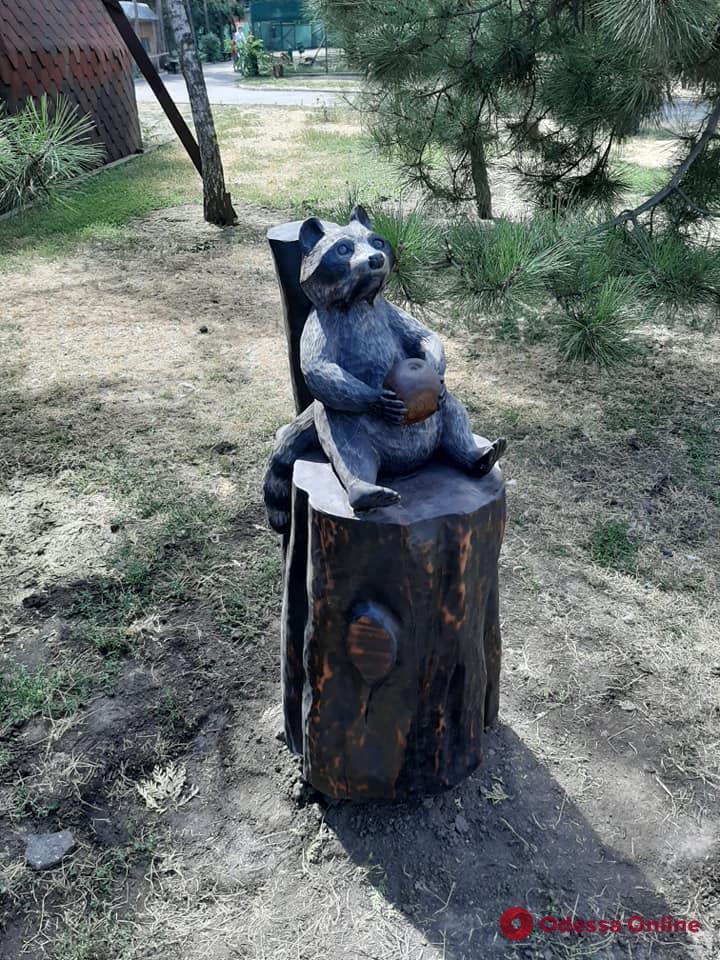 В Одесском зоопарке появился ореховый енот-полоскун