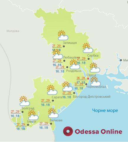 Какая погода будет в Одессе 23 августа