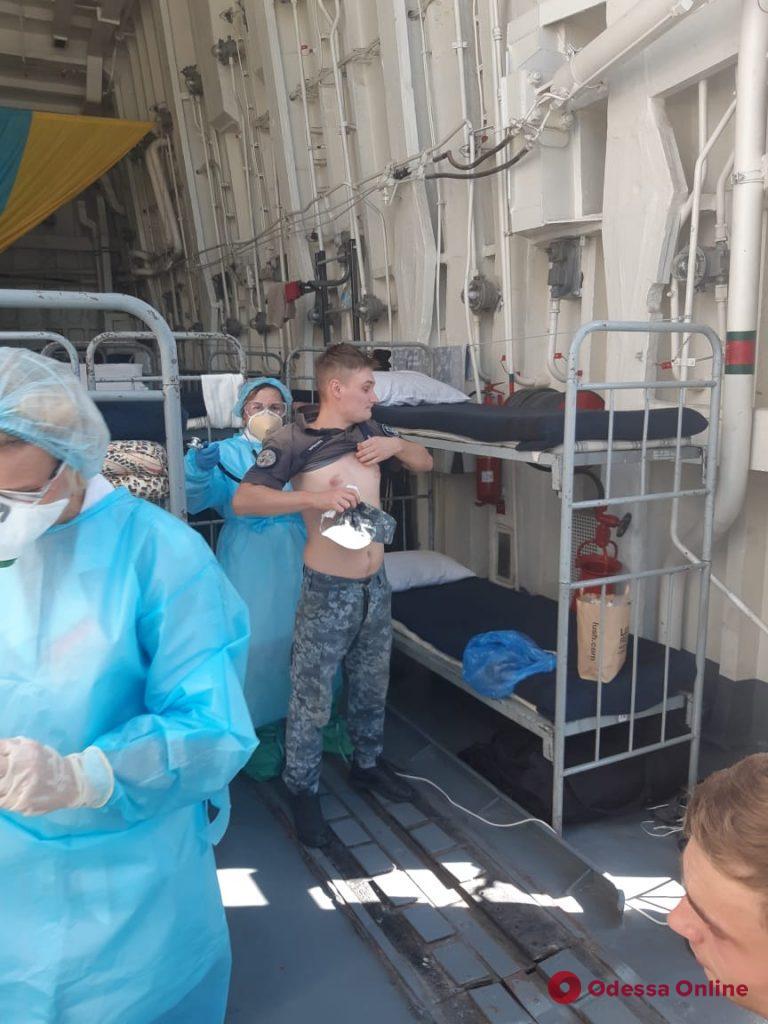 В Одессе на фрегате «Гетьман Сагайдачный» у моряка обнаружили коронавирус