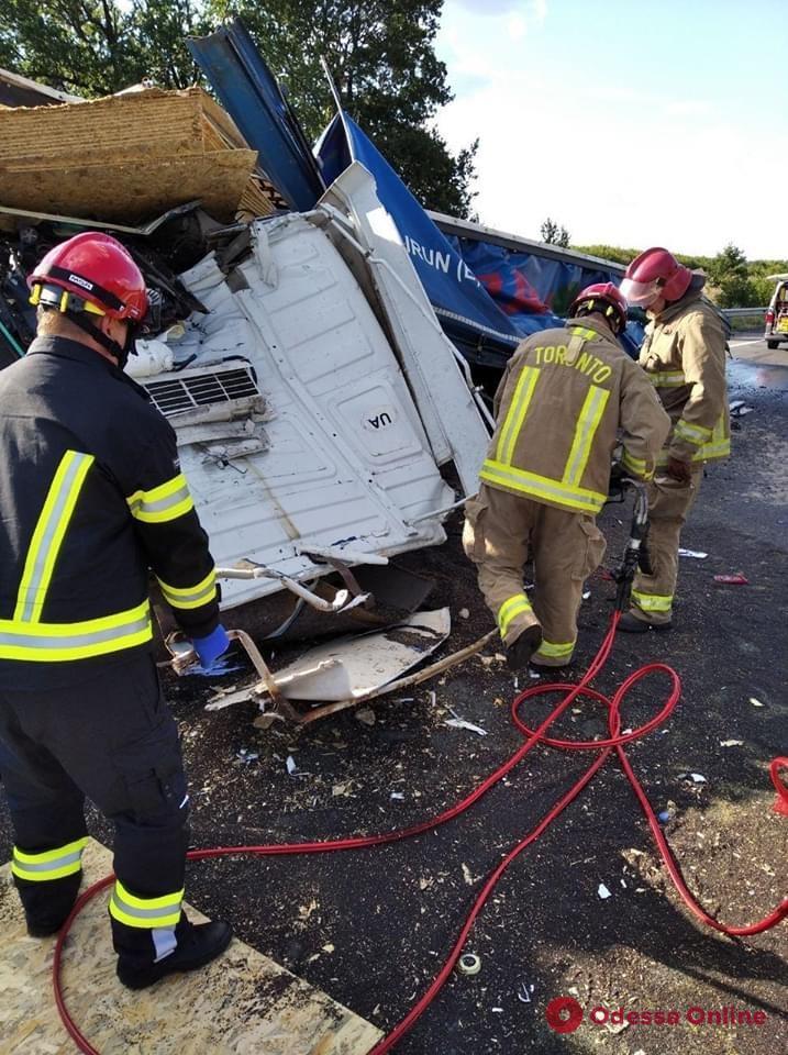 На трассе Одесса — Киев столкнулись два грузовика: есть погибшие (фото)