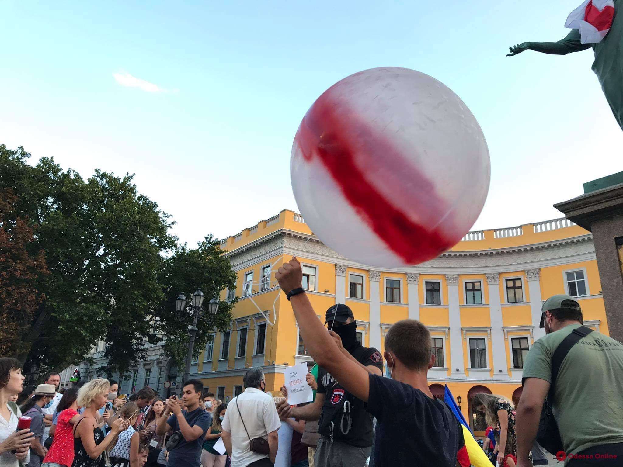 В Одессе прошла акция поддержки участников протестов в Беларуси (фото)