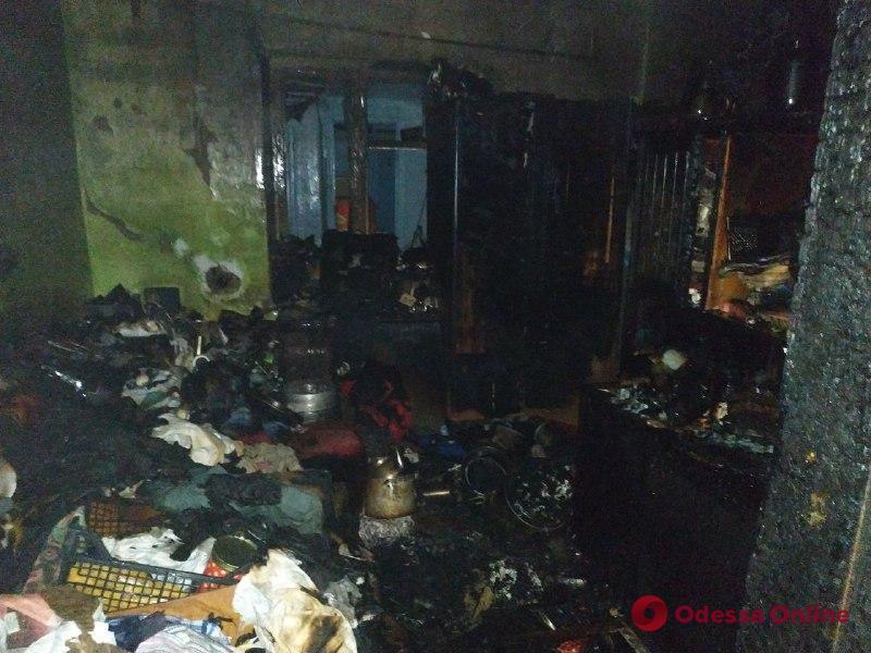 Житель Одесской области получил тяжелые ожоги во время пожара в частном доме
