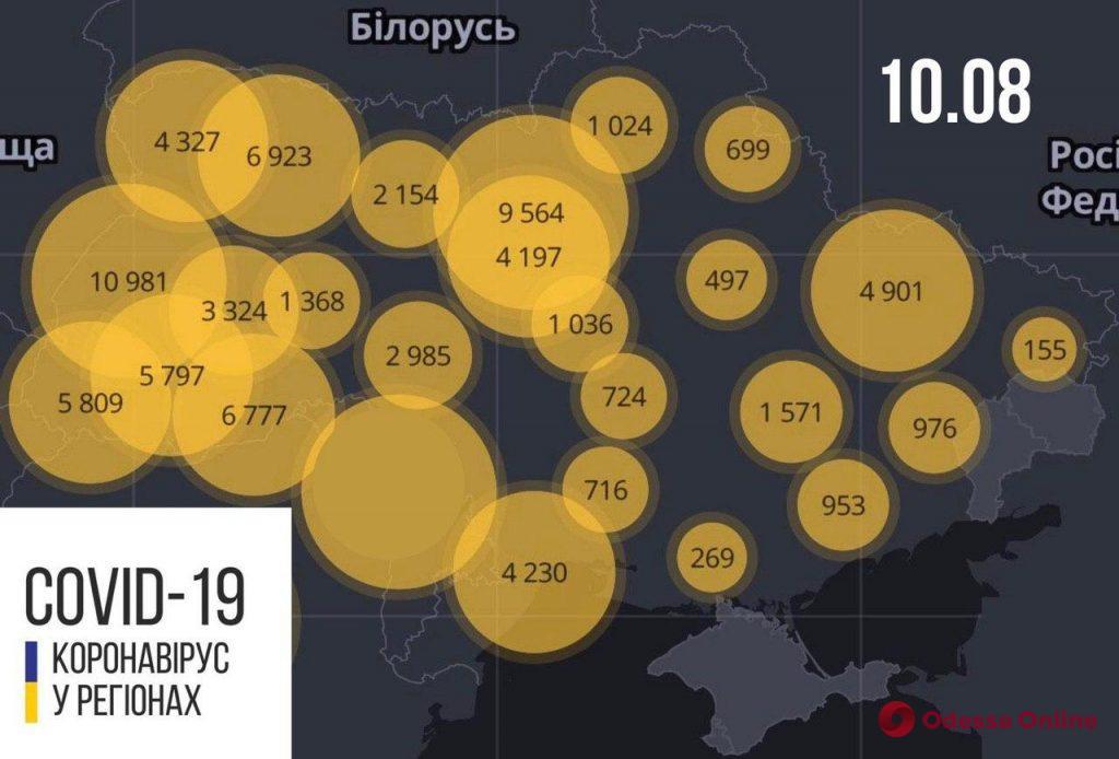 В Одесской области зарегистрировали 65 новых случаев коронавируса
