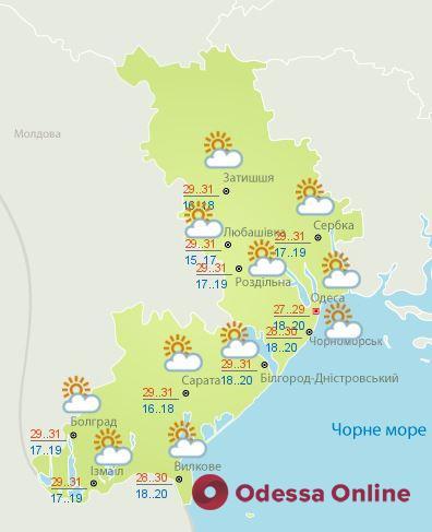 Какая погода будет в Одессе 24 августа