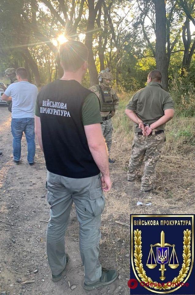 В Одесской области поймали военного, который торговал боеприпасами
