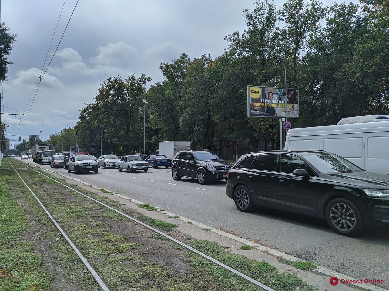 Дорожная обстановка в Одессе: ДТП и пробки в Лузановке