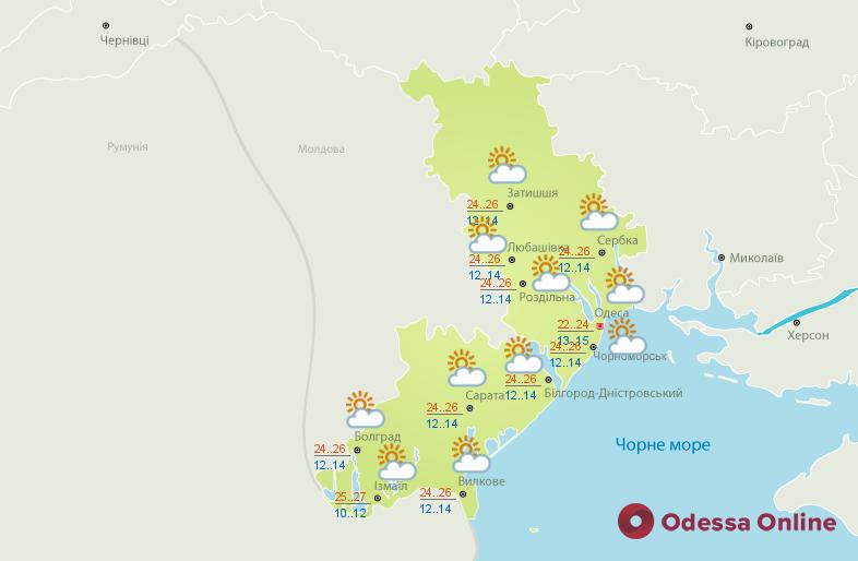 Синоптики дали для Одессы прогноз погоды на понедельник