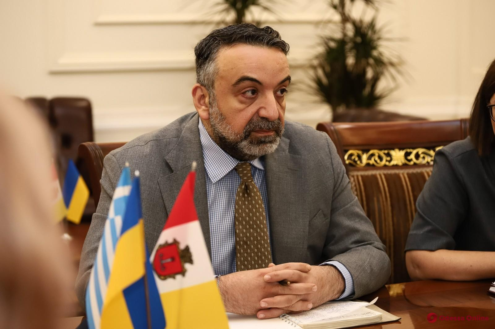 Мэр встретился с новоназначенным Генконсулом Греции в Одессе
