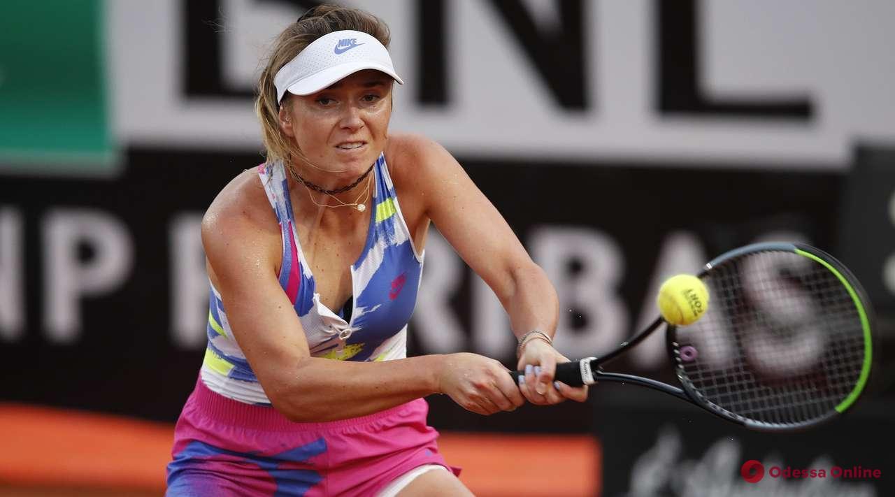 Теннис: уроженка Одессы крупно проиграла в четвертьфинале турнира в Риме