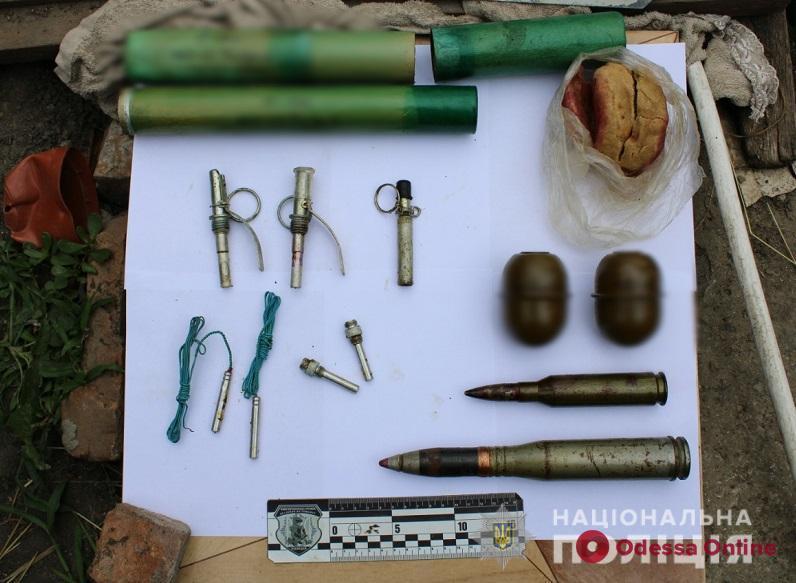 Житель Одесской области хранил запас взрывчатки (видео)