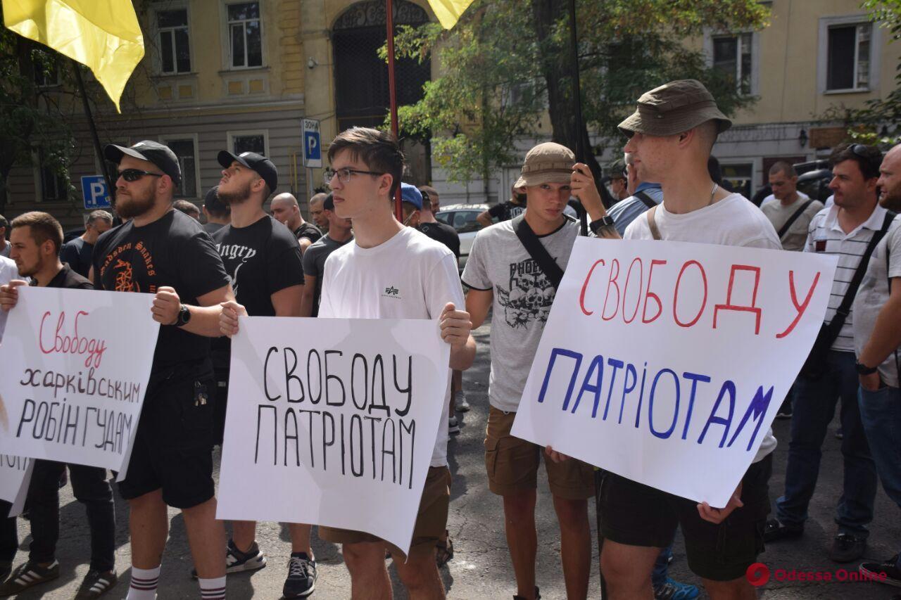 В Одессе требовали освободить задержанных в Харькове представителей «Нацкорпуса»