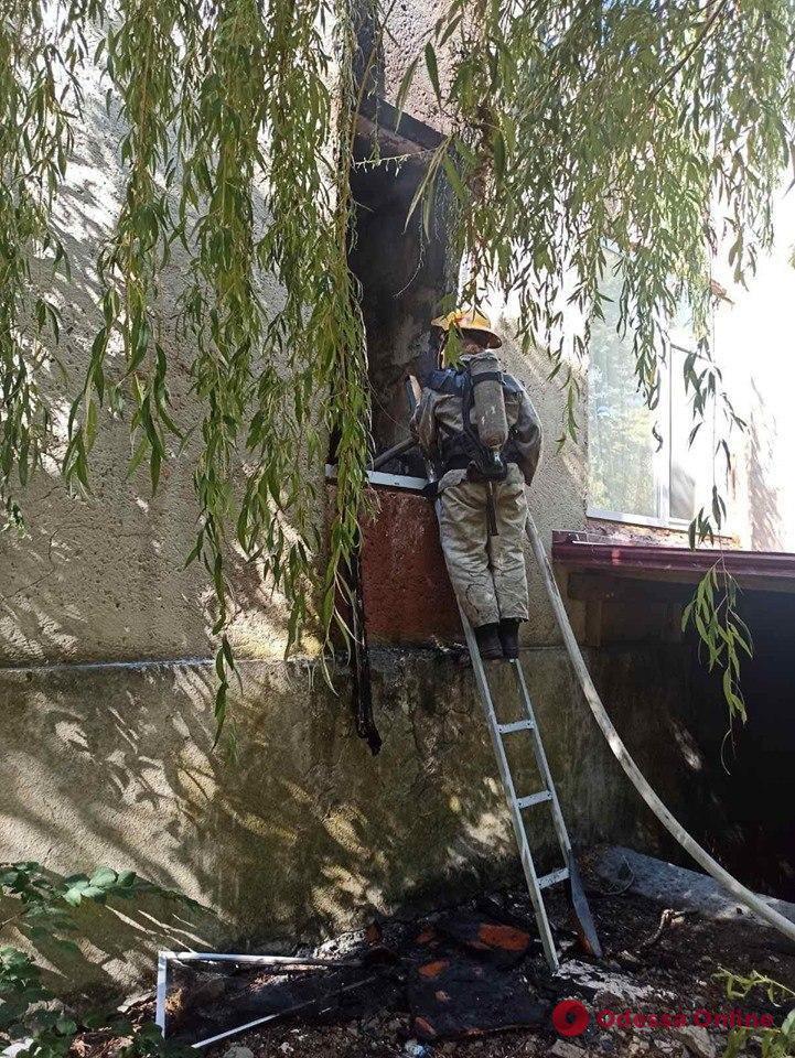 В Одесской области горел санаторий – несколько человек эвакуировали