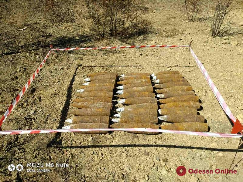 Житель Одесской области нашел в поле свыше трех десятков артснарядов