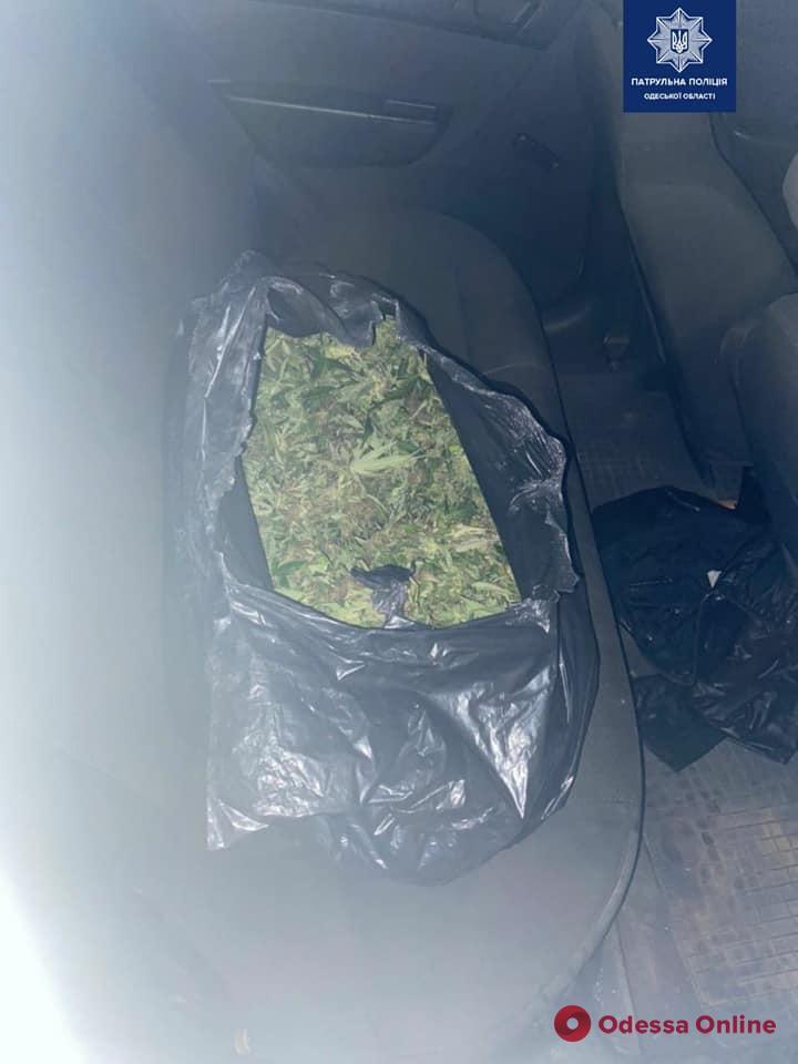 В Одессе патрульные остановили нарушителя ПДД и обнаружили в авто 15 килограммов марихуаны