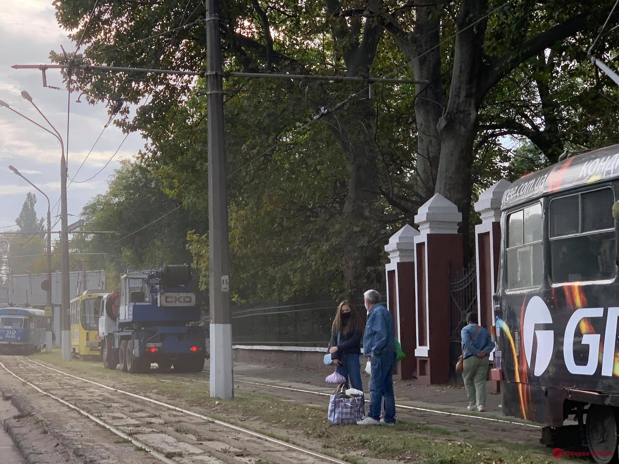 На Люстдорфской дороге трамвай сбил велосипедиста