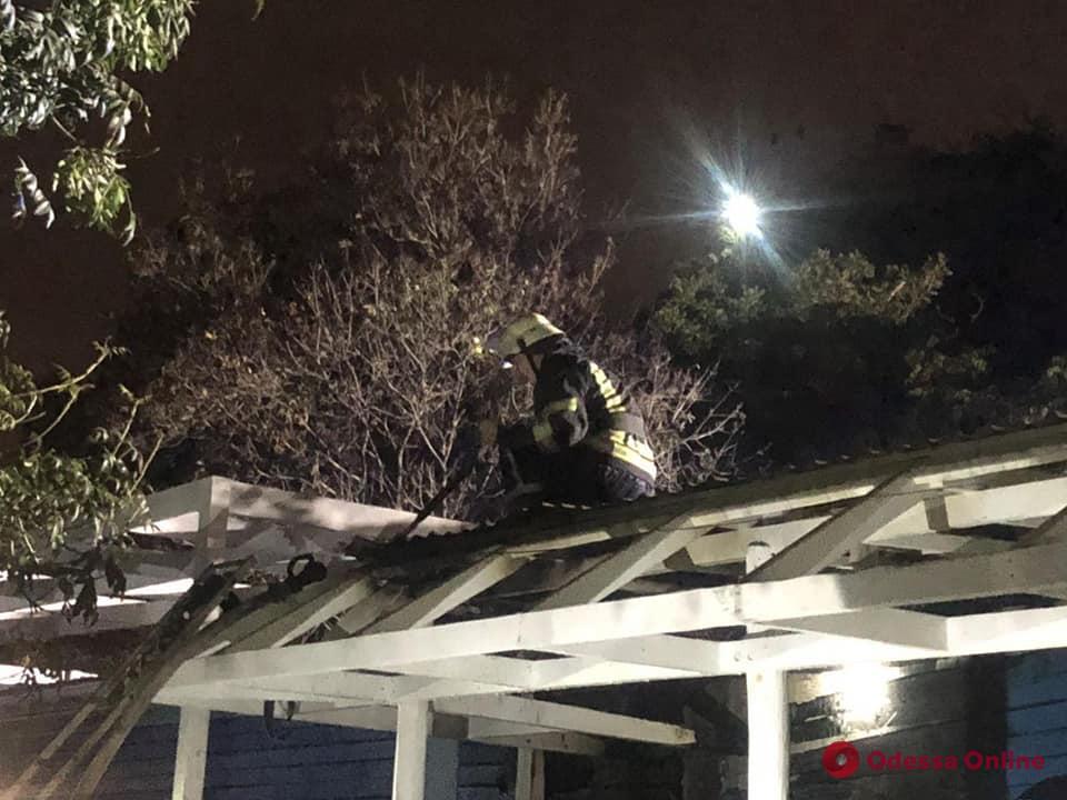 На 11-й станции Фонтана ночью горел ресторан