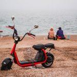 погода море пляж мопед