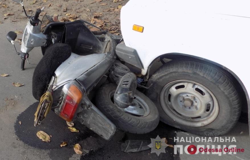 В Одесской области в ДТП пострадал мопедист