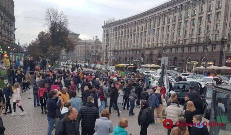 В Киеве на Майдане произошло страшное ДТП (видео)
