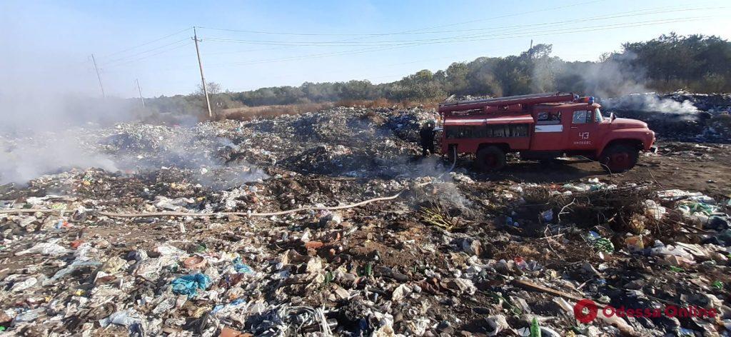 В Одесской области произошел масштабный пожар на мусорной свалке