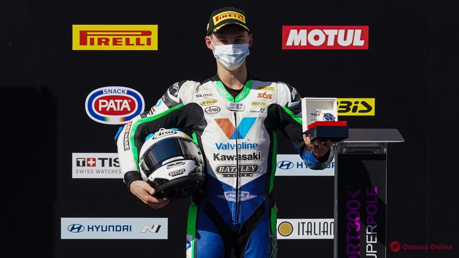 Одесский мотогонщик первым в истории Украины выиграл этап чемпионата мира