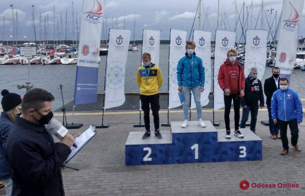 Парусный спорт: юный одессит завоевал две медали чемпионата Европы