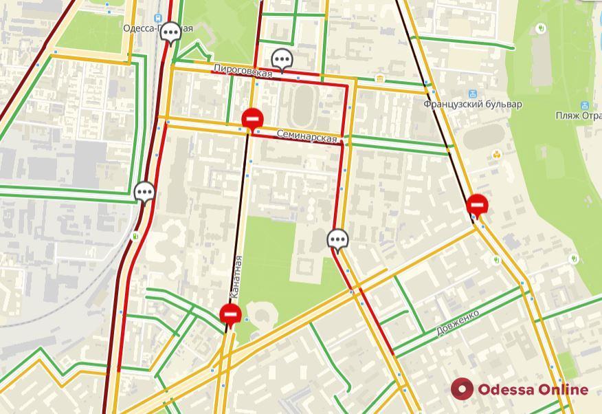 Дорожная обстановка в Одессе: традиционные пробки в сторону центра из спальных районов