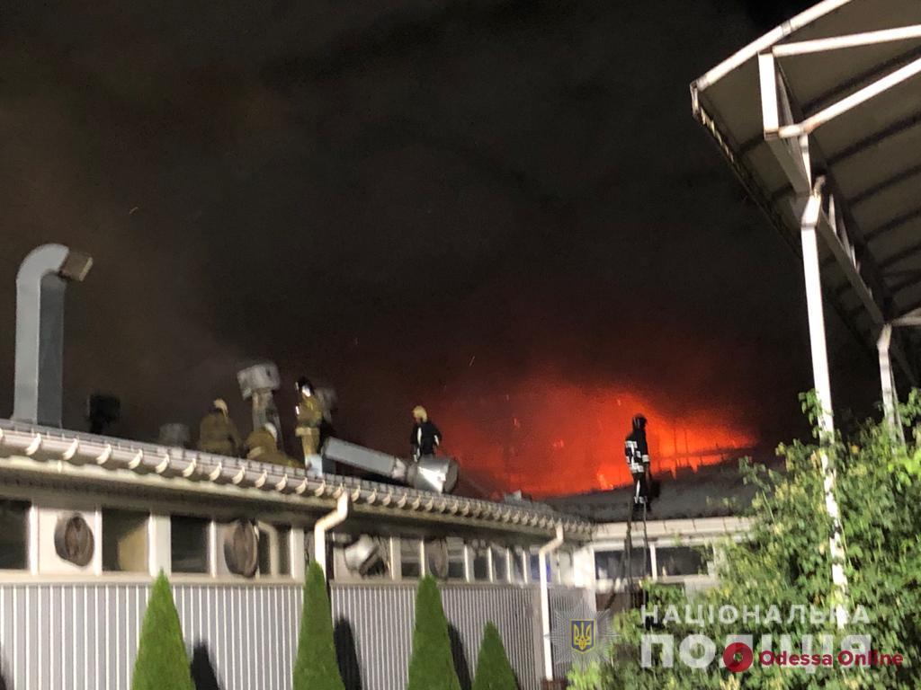 Полицейские расследуют обстоятельства масштабного пожара на заводе в Фонтанке