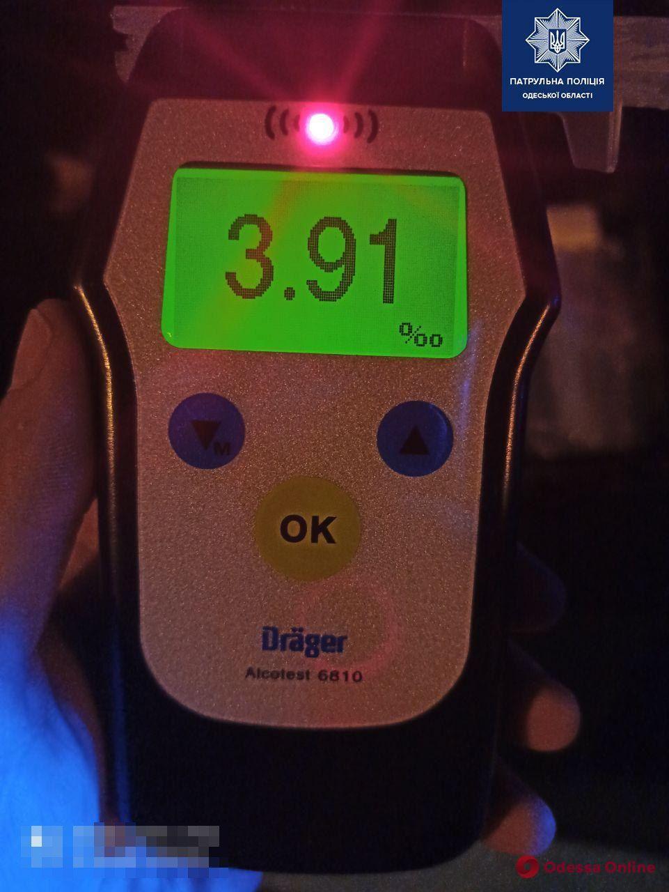 В Измаиле пьяный водитель установил антирекорд