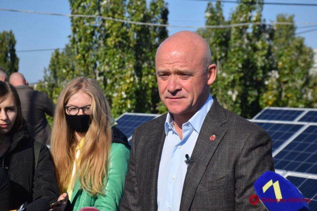 Мэр Одессы проинспектировал реализацию проекта «Солнечный город»