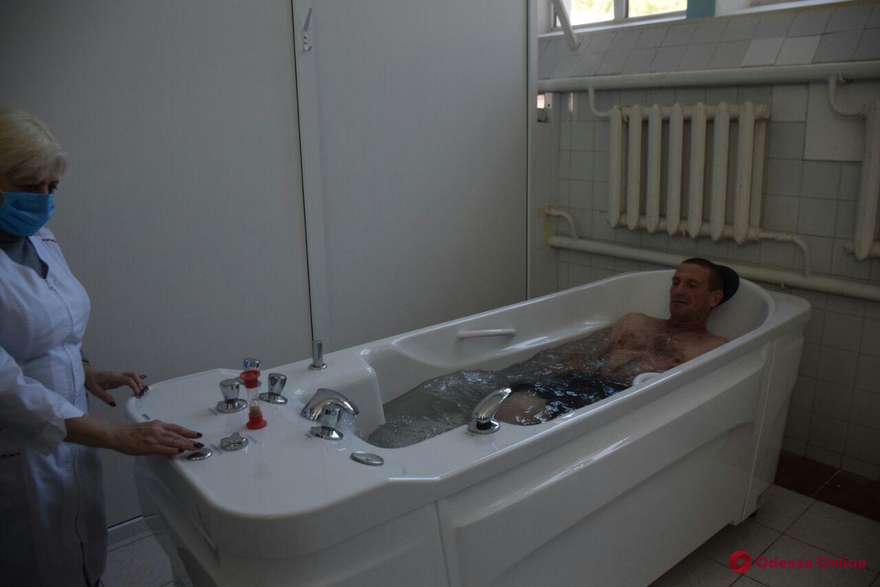 В санатории «Одесский» открыли обновленное ванное отделение (фото)