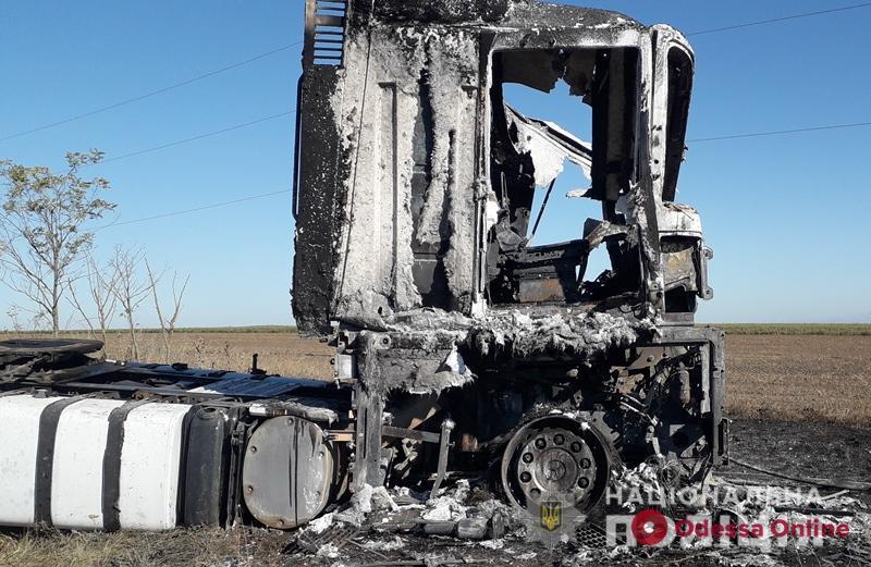 В Одессе задержали угонщика и поджигателя фуры турецкого дальнобойщика
