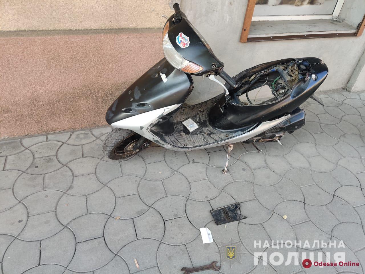 В Измаиле оперативно задержали угонщика скутера