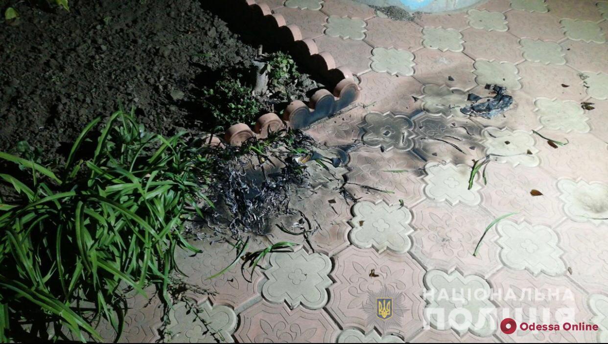 Под Одессой во двор кандидата на пост главы ОТГ бросили «коктейль Молотова»