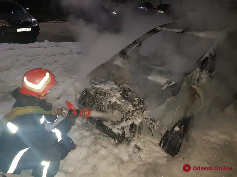 В Черноморске сожгли электромобиль (фото)
