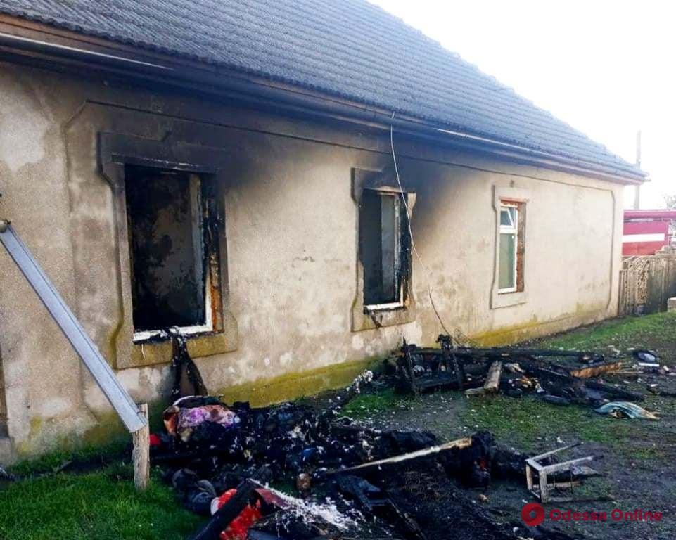 В Измаильском районе горел жилой дом (фото)