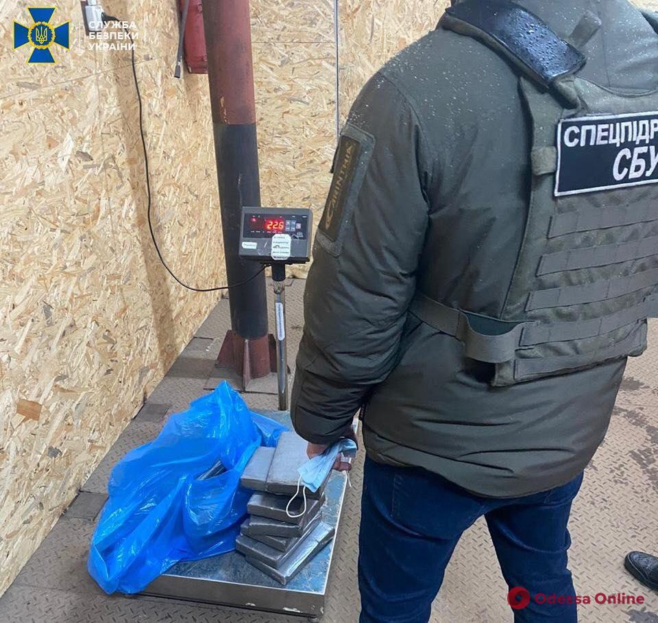 В порту «Южный» СБУ нашла партию кокаина из Эквадора на 4 миллиона долларов