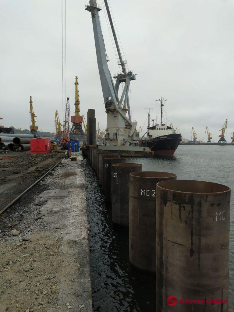 В Одесском порту рассказали о ходе второго этапа реконструкции самого длинного причала