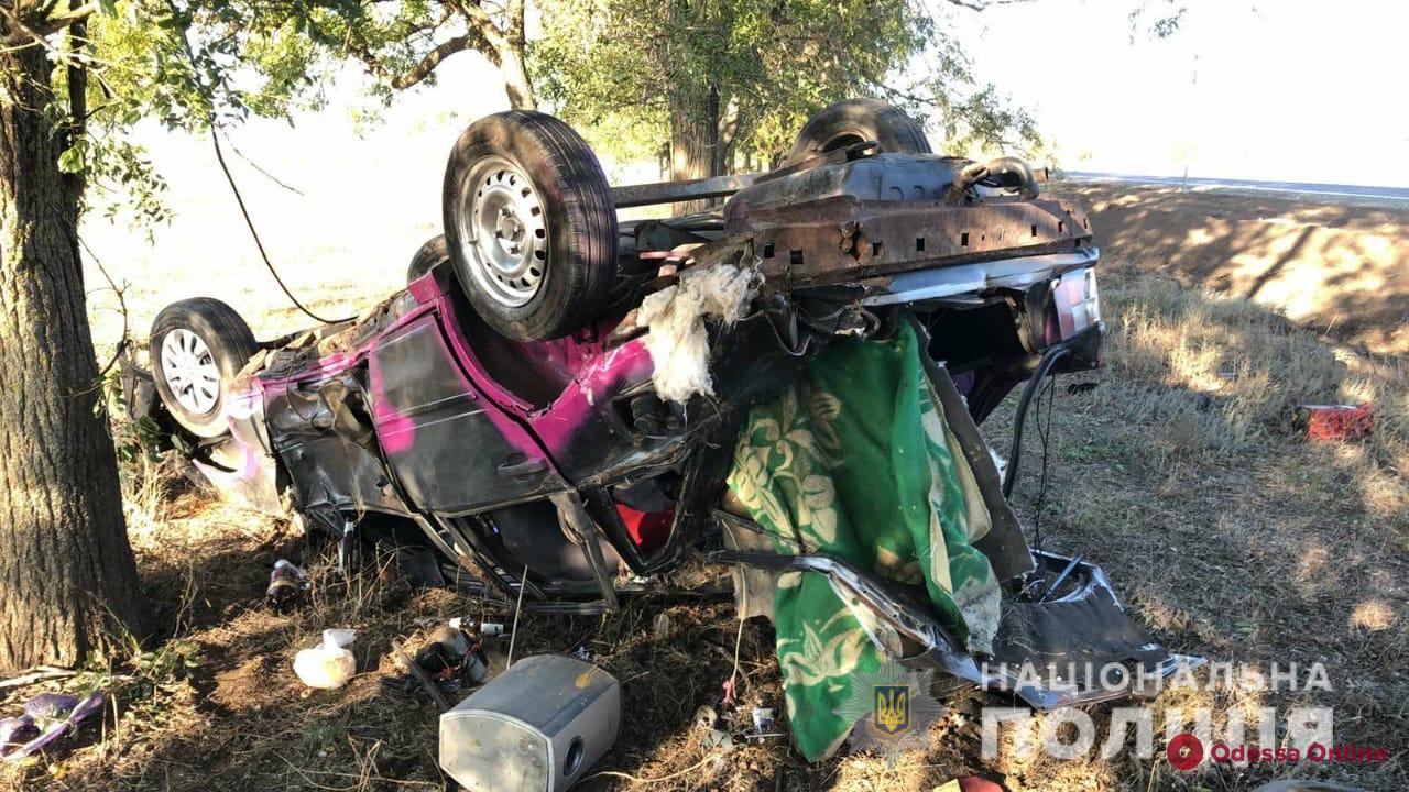 В Одесской области машина вылетела в кювет, перевернулась и врезалась в дерево — водитель погиб