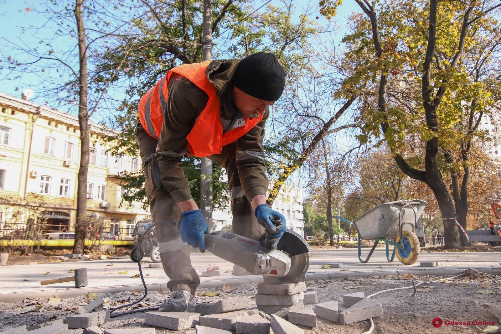 На Молдаванке благоустраивают Алексеевский сквер