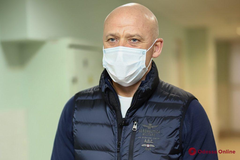 Мэр Одессы проинспектировал горбольницу №5, которая начала прием пациентов с коронавирусом