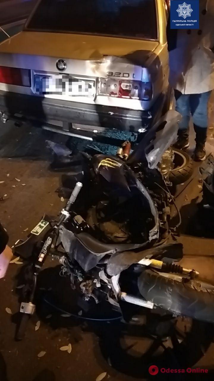 На Люстдорфской дороге сбили 19-летнего мопедиста