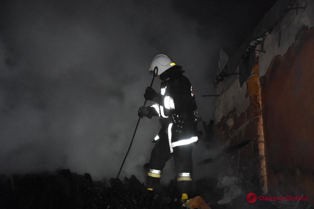 Ночью на Аркадийской аллее тушили пожар (фото)