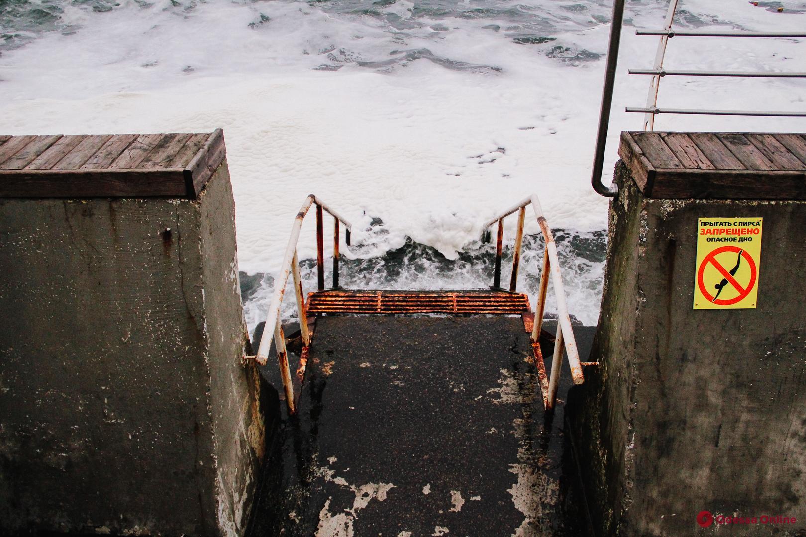 Прогулка по «Ланжерону»: голодные чайки и серое море (фоторепортаж)
